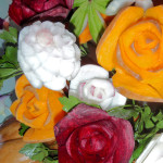 Rosen aus Roter Bete