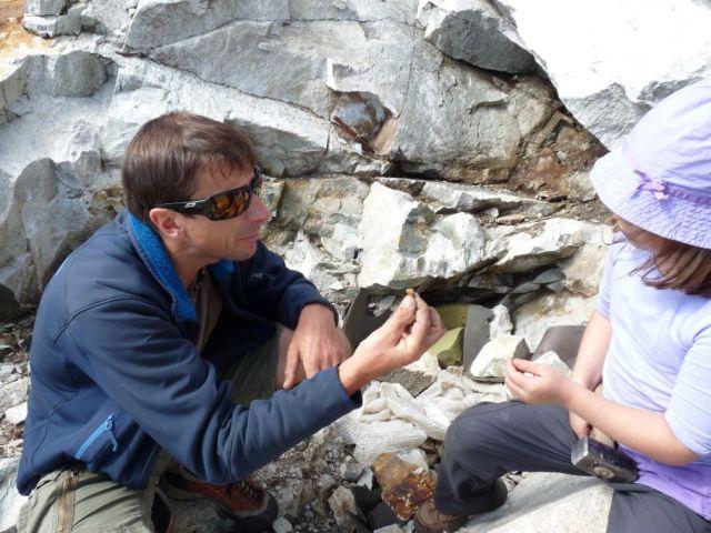 So sehen die Bergkristalle aus, nach denen wir suchen...