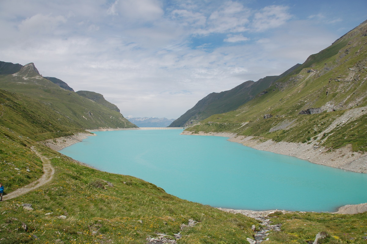 türkiser Gletschersee