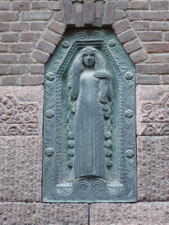 Jugendtsil-Detail an einer Fassade