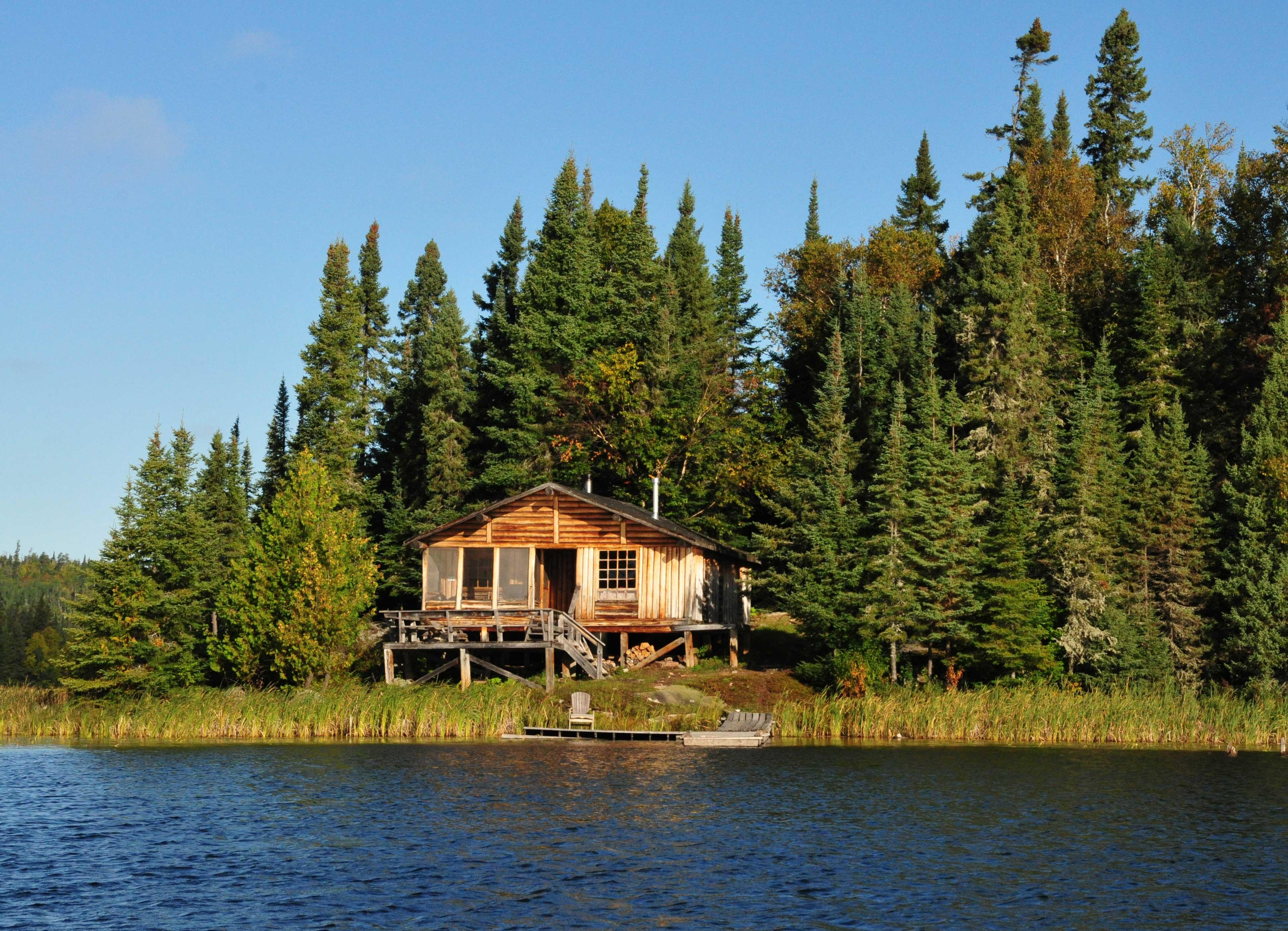 Holzhaus der Lodge