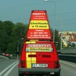 Polnisch maximierte Werbefläche