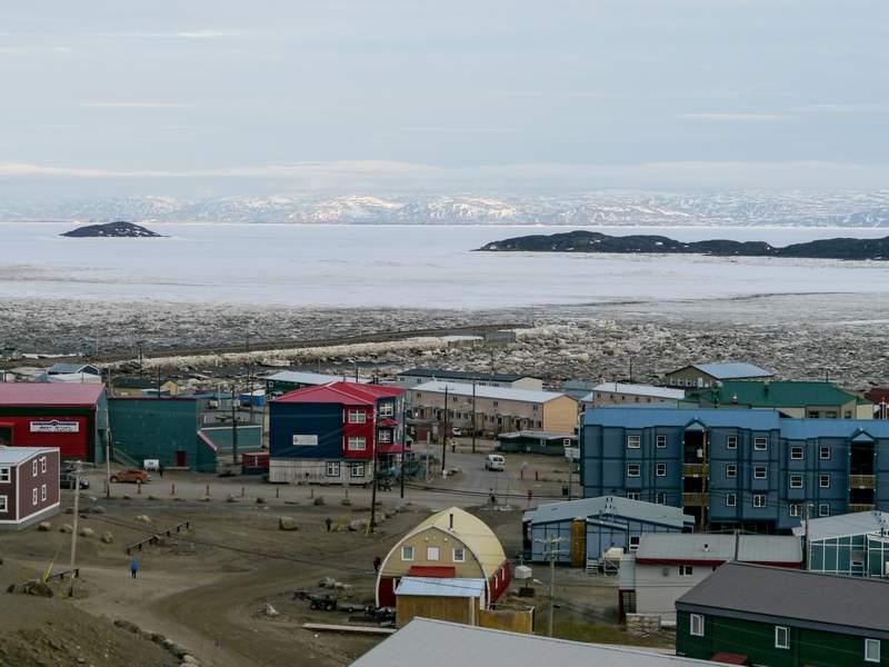Blick über Iqaluit