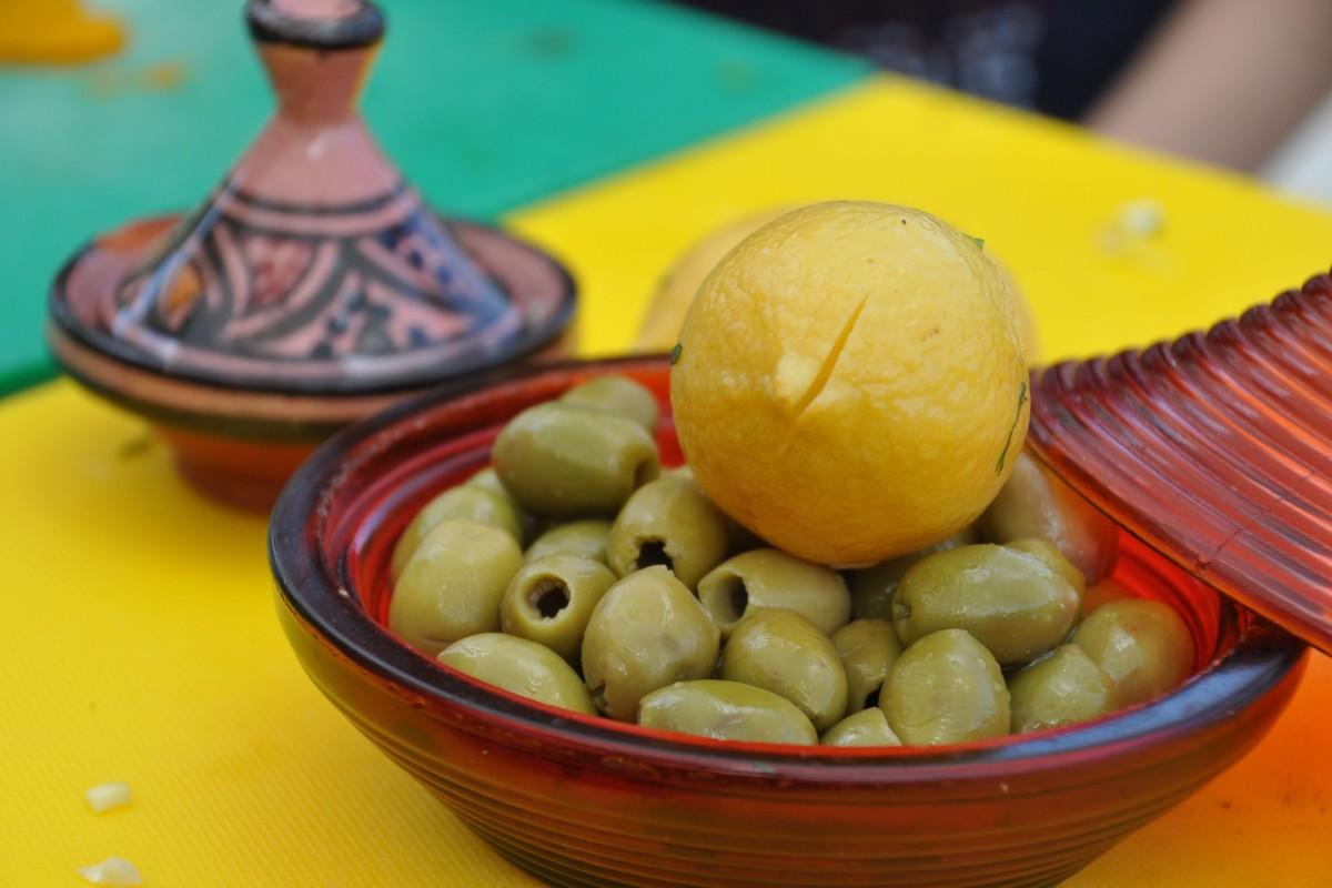 Oliven_Salzzitrone_Marokko_Tajine