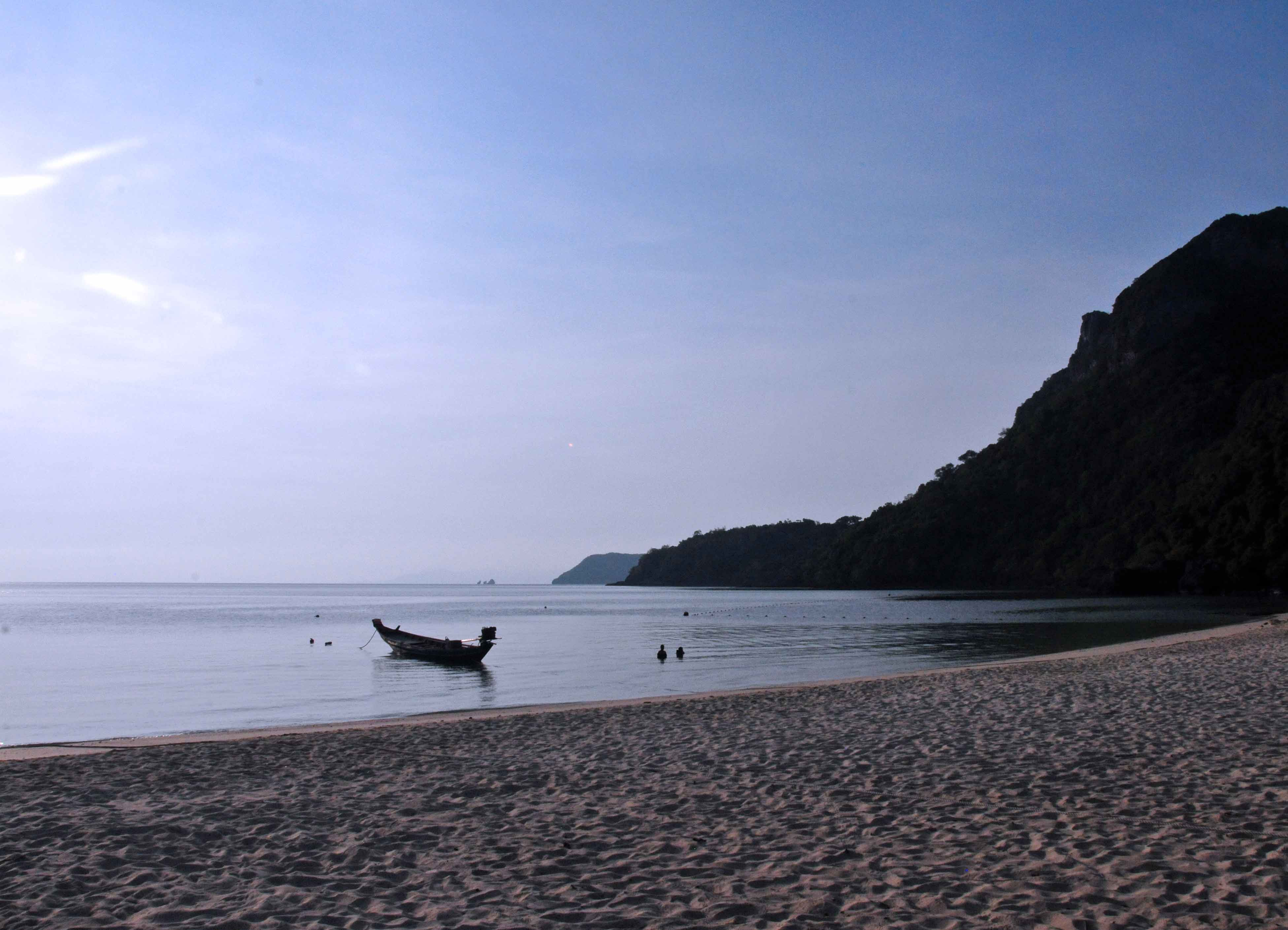 Strand in Abendstimmung in Thailand
