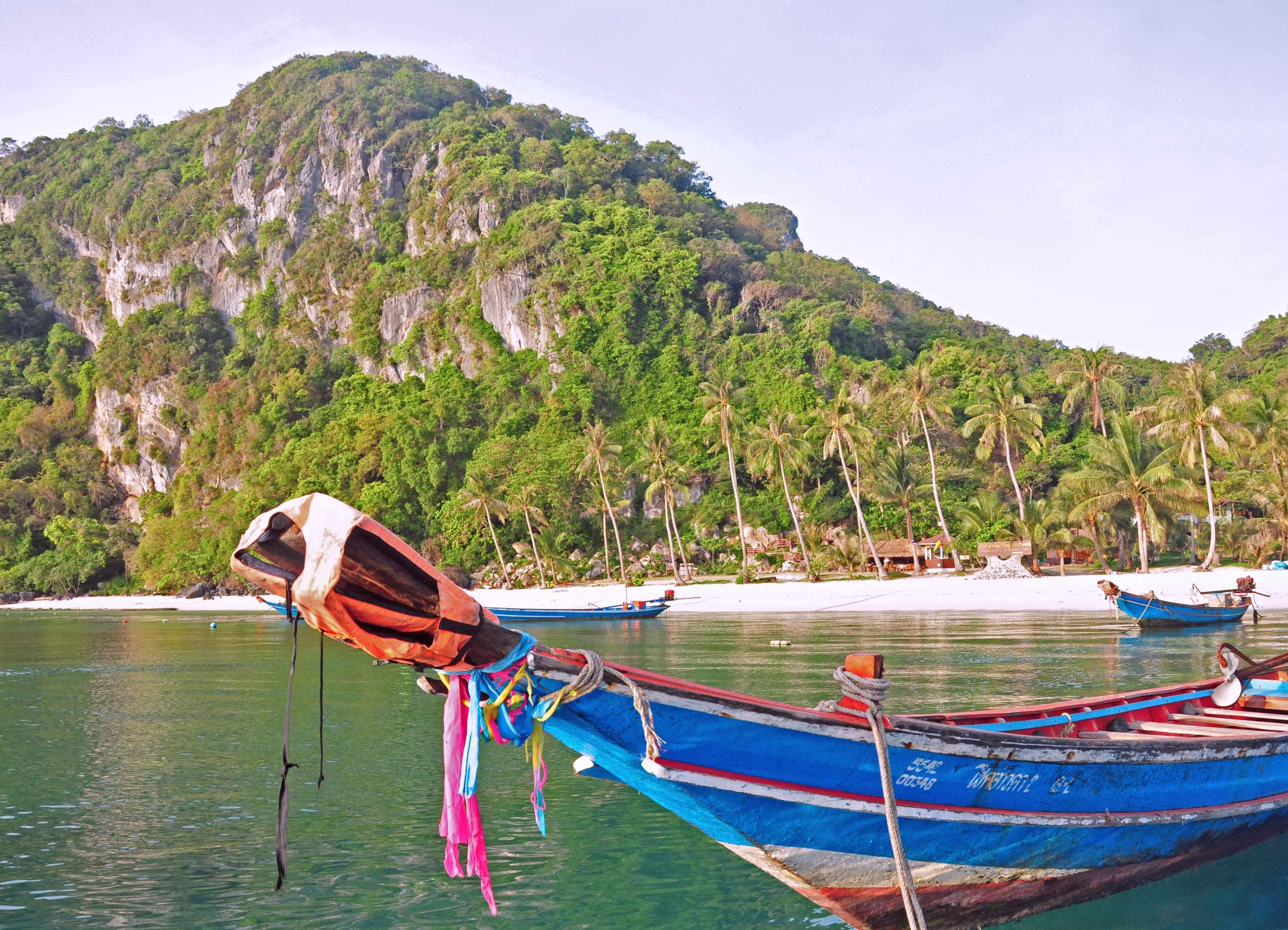 Typisch thailändisches Longboat