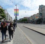 Göteborgs Avenyn rüstet sich zur west Pride
