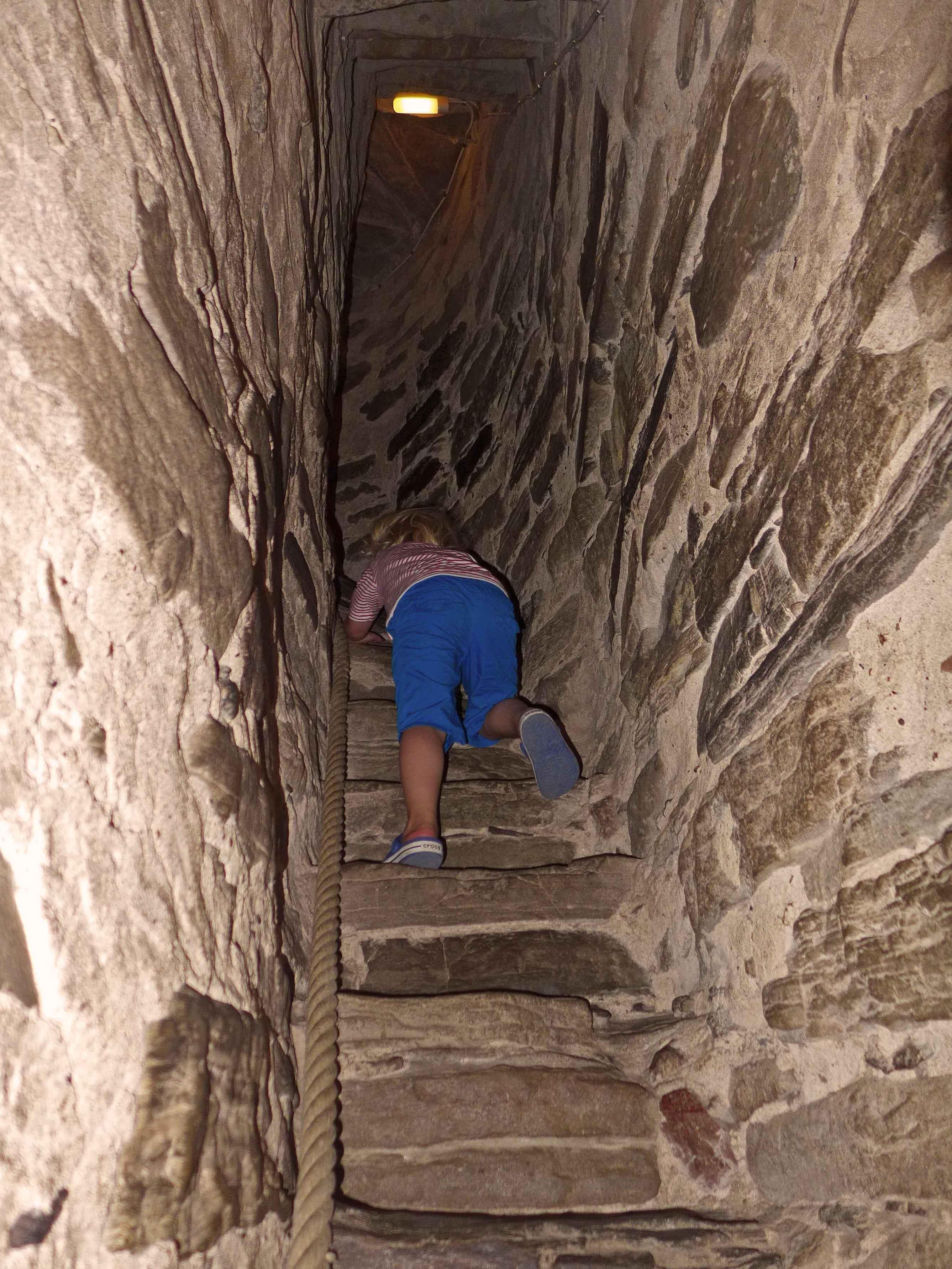 Nur etwas für Mutige: der Aufstieg im Kirchturm auf Visingsö
