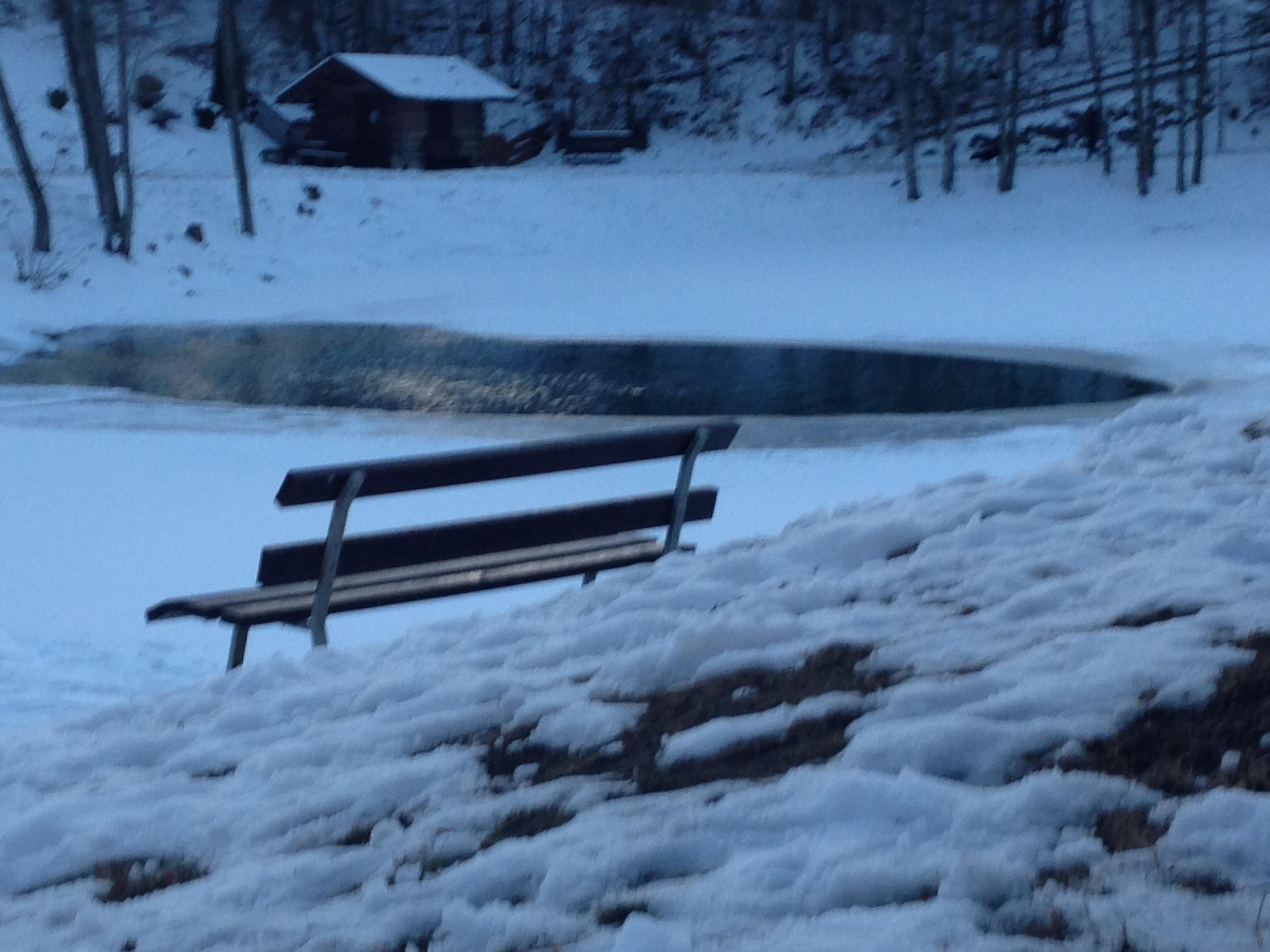 Am zugefrorenen Badesee von Ried