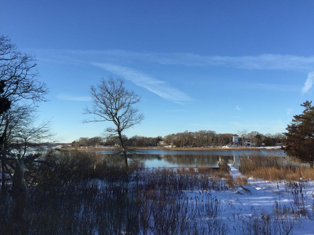 USA, Long Island, Schnee, Winter