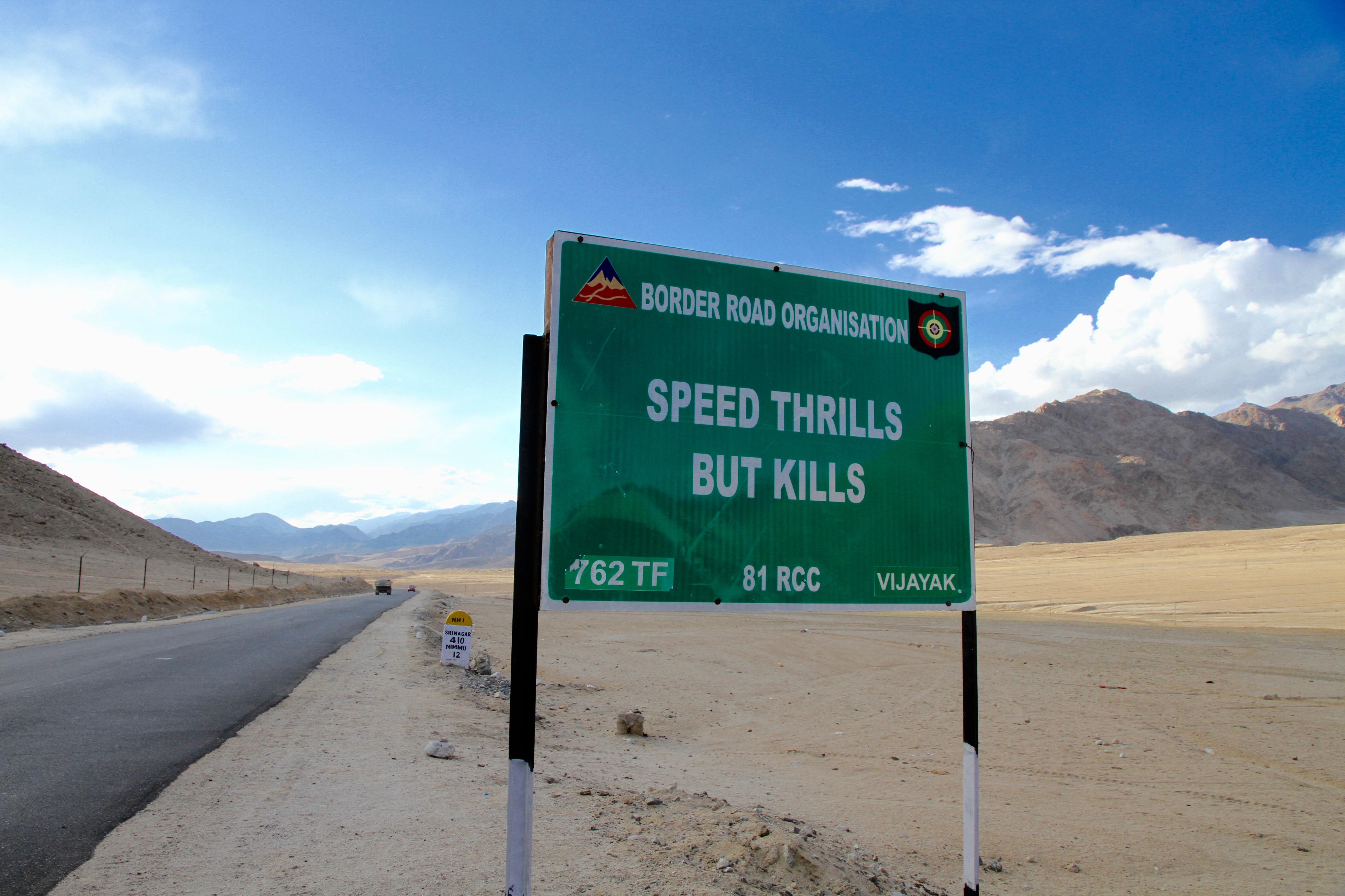 Schild, Indien, Ladakh