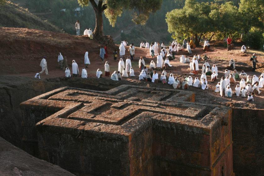 Äthiopien, Lalibela, Grottenkirche